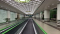 Empty airport terminal hall, no people, quarantine, travelling stoped, ashgabat turkmenistan 64714190
