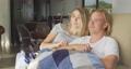 Caucasian couple self isolating at home during coronavirus covid19 pandemic 64903194