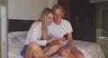 Caucasian couple self isolating at home during coronavirus covid19 pandemic 64903195