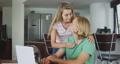 Caucasian couple self isolating at home during coronavirus covid19 pandemic 64903202