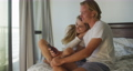 Caucasian couple self isolating at home during coronavirus covid19 pandemic 64903207