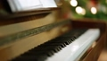 Piano keyboard fly over with selective focus 64917726