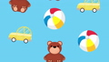 pattern of toys children icons 65058006