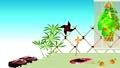 日本の夏と縁側の風景に鬼灯に風車や風鈴と下駄のイラスト青空の背景アニメーション動画 65244497