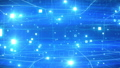 Beautiful Flight Through the Digital Abstract Network Grid with Blue Flares Seamless. Looped 3d Animation of Working Internet Network Structure. Technological Concept. FullHD Full HD 3840x2160 65297946