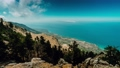 4k time lapse clouds building over mountain Ainos on Kefalonia island. Gorgeous panorama view from the top, seaview. Greece 65308061