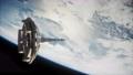 futuristic Space satellite orbiting the earth 65358829