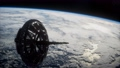 futuristic Space satellite orbiting the earth 65358830