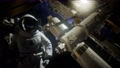 Astronaut outside the International Space Station on a spacewalk 65358834