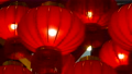 Chinese new year lanterns in the night sky 65495963