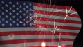 USA flag and fireworks background 65495966