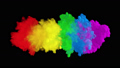 Multicolored colorful rainbow smoke. An explosion of liquid multi-colored ink. VFX animation with an alpha channel. 65513705