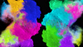 Rainbow colored smoke. An explosion of liquid multi-colored ink. VFX animation with an alpha channel. 65541201
