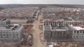 FullHD Aerial view of working Construction site Large construction site including several cranes working on a building area pan view 65559645