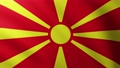 Large Flag of North Macedonia fullscreen background fluttering in the wind 65639607