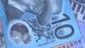 Australian 10 dollar AUD banknotes close up 65649023
