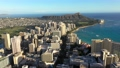 Aerial footage over city near the ocean Waikiki, Honolulu 65679793