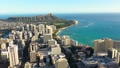 Aerial view city of Honolulu near the ocean 65679796