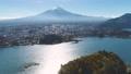 河口湖と富士山空撮 65740962