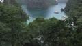 Kayangan Lake viewpoint of bay panning up hand held shot 60fps 1080p. Coron, Palawan, Philippines 65781089