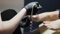 Professional hardware pedicure using electric machine. 65814214