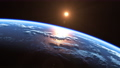 Sun Above Blue Planet Earth. View From Space. 65889643