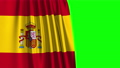 Spanish Flag Curtain Opening. Green Screen. Alpha Channel. 3D Animation. 4K. 65889649