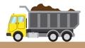 A large dump truck transports soil 65939859