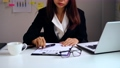 Stressed business woman suffering from back pain, Office syndrome concept 65994967