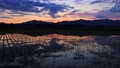 Evening scenery reflected in paddy fields May scenery in Akita Prefecture 66045903