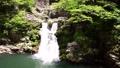 新鮮的綠色山丹峽的三丹瀑布 66076317