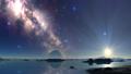 Sunrise over the Alien Lake 66125048