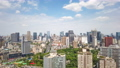 Chengdu skyline aerial view timelapse with moving clouds 66145799