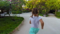 Happy little girl have fun during summer vacation 66160834