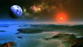 Red Sunrise on Alien Planet 66269027