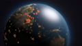 바이러스가 지구에 퍼져가는 CG 애니메이션 이미지 66323151