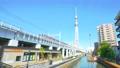 [4K収録, 音声無し]東京の都市風景 隅田区 東京ミズマチ周辺の風景[zoomout/20sec] 66327743