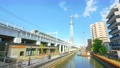 [4K収録, 音声無し]東京の都市風景 隅田区 東京ミズマチ周辺の風景[zoomin/20sec] 66353002