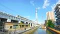 [4K収録, 音声無し]東京の都市風景 隅田区 東京ミズマチ周辺の風景[zoomout/20sec] 66353003