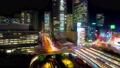 8K 東京 新宿駅 西口 夜景 タイムラプス 2020年 高層ビル群と賑やかな街並み FIX 66396136