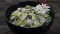 Oysters Rice Baked (Gulbap) Korean Food Style dish decorate with leek sideview 66419180