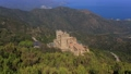 top view of the monastery of Sant Pere de Rodes and mountains 66525230