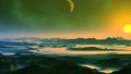 Bright Sunrise over an Alien Planet 66606361
