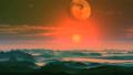 Beautiful Sunset under the Alien Moon 66606365
