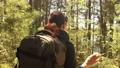 Hiking woman walk with a hiking backpack 66709964