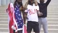 No racism. Black man raised sign dont shoot. Black Lives Matter. Justice in USA. 66830655
