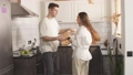 Happy young couple dancing at home 66883028