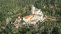 Aerial of park and palace of Bussaco, Portugal 66921572