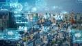 都市とテクノロジー CGアニメーション タイムラプス 66941339
