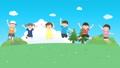 儿童欢快跳跃的动画视频 67003768